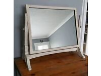 Dressing table mirror, pine, painted