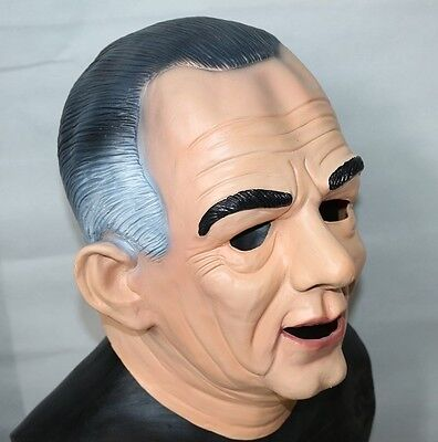 Point Break Masks Halloween (Lyndon B Johnson Mask LBJ Ex Presidents Latex Halloween Fancy Dress Point)