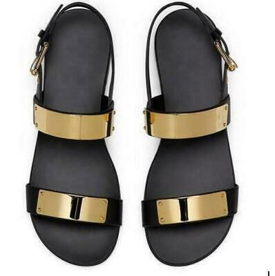 Mens Sandals Shoes Slippers Patent Leather Flats Summer Buckle Roman Gladiator - Mens Roman Gladiator Sandals