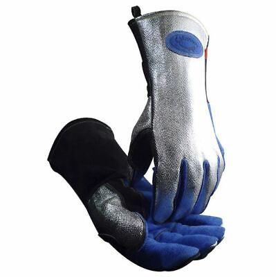 Caiman 1524 Aluminized Mig Stick Plasma Welding Gloves High Heat Tig Wool Lined