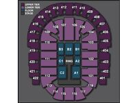 1 WALKOUT BARRIER WWE Ticket O2 LONDON 7th September FLOOR SEAT C2 Top Tier Price seats