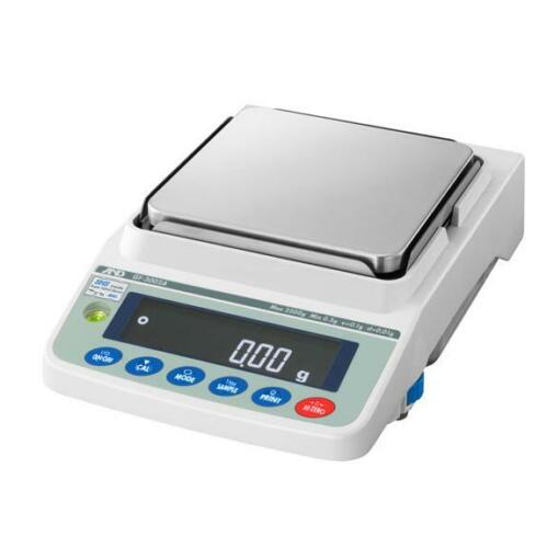 A&D GF-6001A Precision Lab Balance, Compact Jewelry Scale 6200g X 0.1g NEW