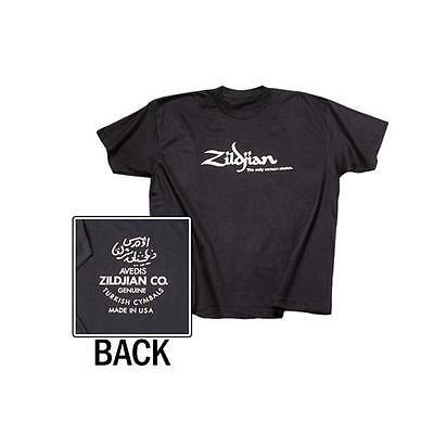 Zildjian T3003 Classic Logo Black T-Shirt w/ White Lettering -  Large