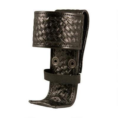 Boston Leather 5487 Deluxe Adjustable Radio Holder Leather Basket Weave Black