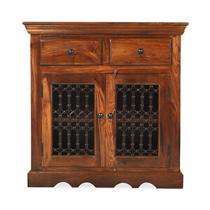 Jali Sheesham Small Sideboard Table Living Room Solid Wood Indian Furniture