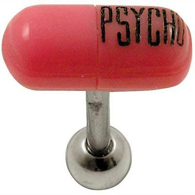 14G 5/8 Psycho Pill Surgical Barbell Pill Surgical Barbell