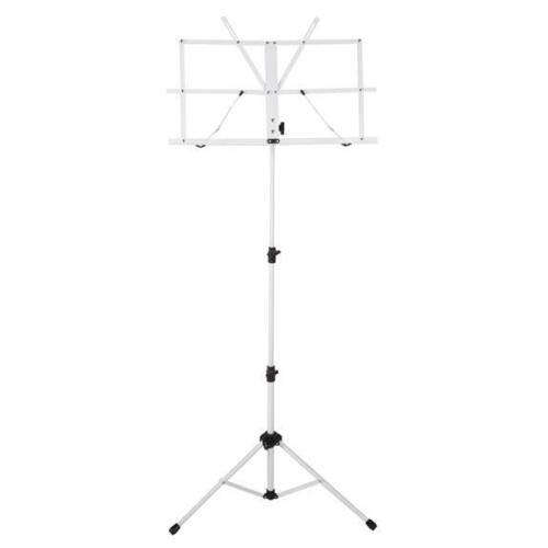 Ravel Folding Music Stand w/ Carrying Bag, White