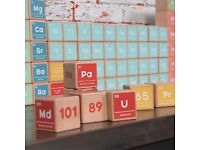 Periodic Table Wooden Blocks (designed by Radcliffe & Sloane, great gift, brand new, unopened)
