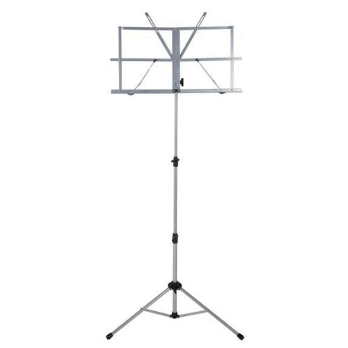 Ravel Folding Music Stand w/ Carrying Bag, Silver