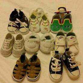 Baby boy 8 pairs of shoes 0-6m