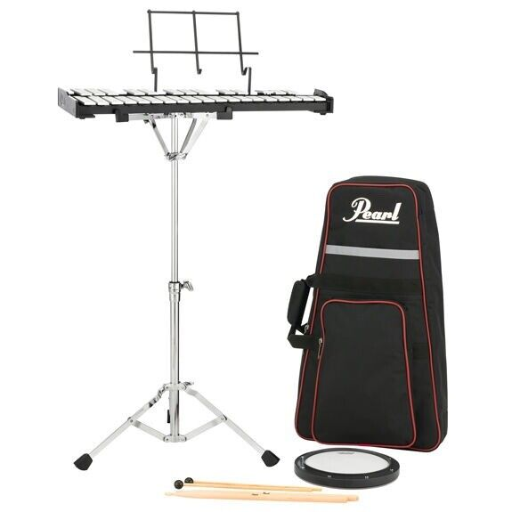 New Pearl PK910 Complete Student School Percussion Bell Kit w/ Stand & Backpack