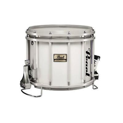 """Pearl FFX Championship Maple 14""""x12"""" Marching Snare Drum with Carrier Pure White"""