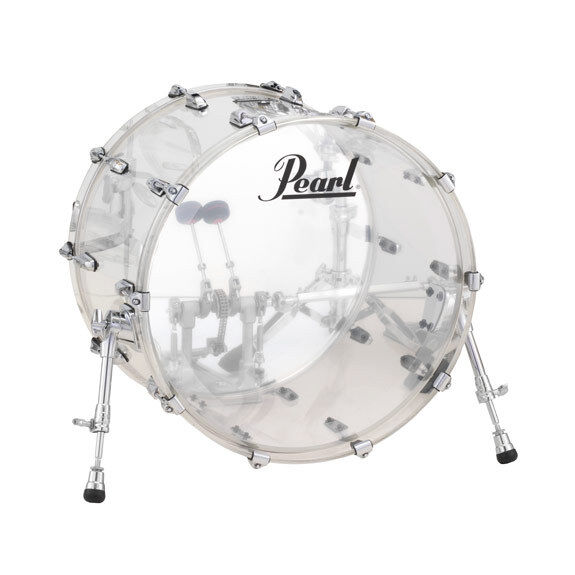 Pearl Crystal Beat Acrylic Bass Drum 22x16 Ultra Clear - Video Demo