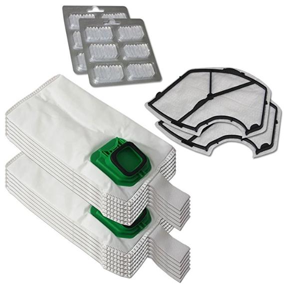 SPAR SET 12 Staubsaugerbeutel Premium geeignet für Vorwerk Kobold VK140 VK 150