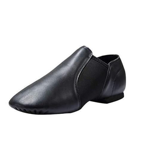 Linodes Leather Jazz Shoe Slip On for Girls and Boys(Toddler/Little Kid/Big Kid)