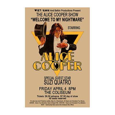 Alice Cooper 1975 Cleveland Concert Poster