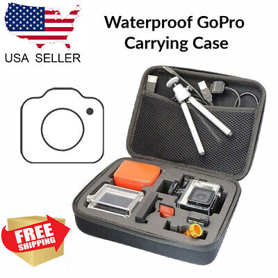 waterproof pov carrying case compatible for gopro