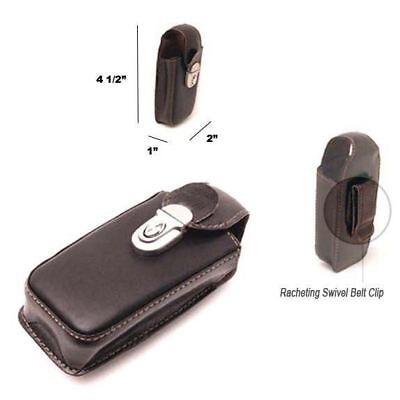 Mobile Phone Holster - MaximalPower™ NEW MOBILE CELL PHONE HOLSTER POUCH CASE LEATHER BROWN