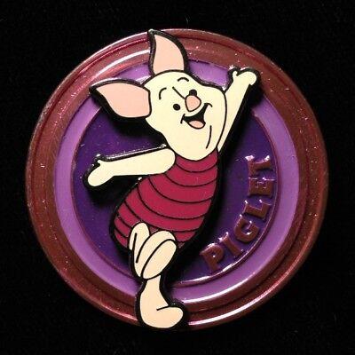 DISNEY PIN - PIGLET Pig on Pink Circle Disk Series