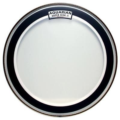 "Aquarian SKII22 Superkick 2 Clear 22"" 2-Ply Bass Drum Batter Head"