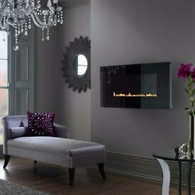 WALL MOUNTED Superior Scandium FLUELESS GAS FIRE