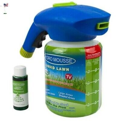 Hydro Mousse Seeding Grass Liquid Lawn Green BOI Spray Device Seed Care Watering