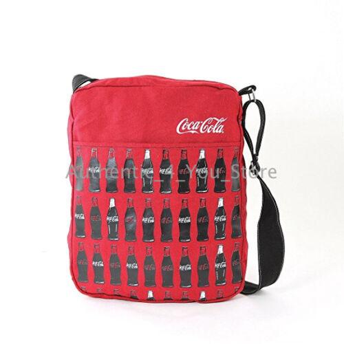 NEW Screen Printed Coke Coca-Cola Bottles on Canvas Crossbody Messenger Bag