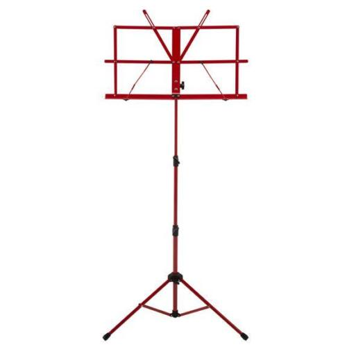 Ravel Folding Music Stand w/ Carrying Bag, Red