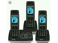 BT cordless phone trio brand new bargain only £45