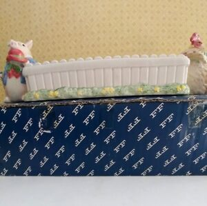 Fitz & Floyd Bacon and Eggs Cracker Cradle made in Japan NEW