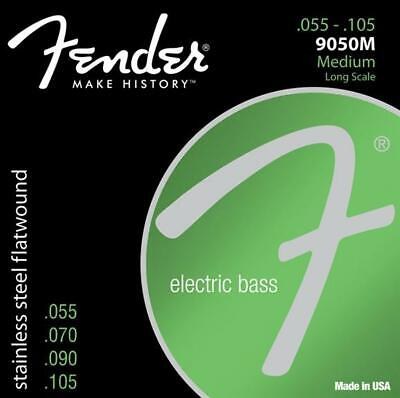 Fender 9050M Stainless Flatwound Medium Electric Bass Guitar Strings Set