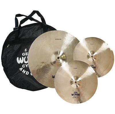Wuhan WUTBSU Western Style Cymbal Box Set w/ Cymbal Bag (Crash/Ride/Hats)