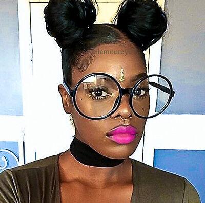 Oversized Glossy Round Circle Clear XL BOHO Huge Glasses Eyeglasses Frames (Oversized Circle Glasses)