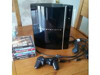 PlayStation 3 (PS3). 80Gb. 7 games. 1 controller.