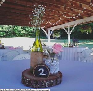 MASON JARS FOR WEDDING DECOR ($28 for 40)