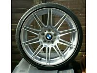 "×1 GENUINE BMW 19"" 225M MV4 9J REAR ALLOY WHEEL STAGGERED E90, E91, E92, E93 EXC."