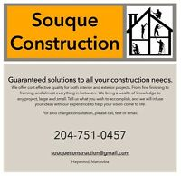 Souque Construction - For all your construction needs.