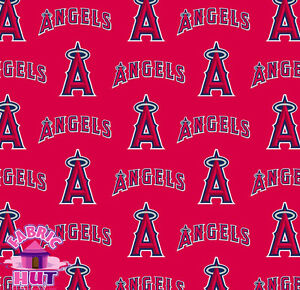 Anaheim Angels LA Cotton MLB Fabric 6629 B