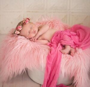 Baby Pink, Faux Fur, Mongolian, Newborn Photography's props 18