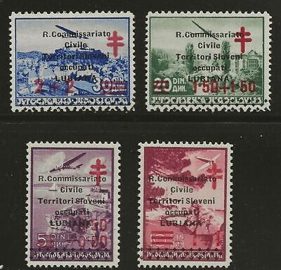 YUGOSLAVIA LAIBACH SC# NB1-4  MLH STAMPS SIGNED