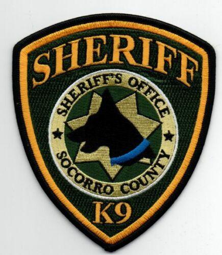 NEW MEXICO NM SOCORRO COUNTY SHERIFF K-9 NICE PATCH POLICE