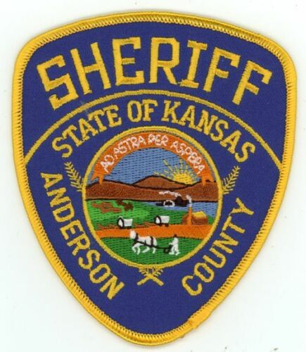 ANDERSON COUNTY SHERIFF KANSAS KS NEW COLORFUL SHOULDER PATCH POLICE