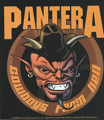 "Pantera - Cowboys From Hell Logo Sticker - 4"" x 4.5"""