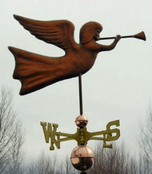 "COPPER   "" MYSTICAL ANGEL "" WEATHERVANE  MADE IN USA #118"