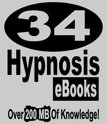 34 Books Hypnosis Ebooks Ultimate Library On Hypnotismw Reseller Website