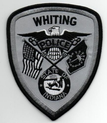 INDIANA IN WHITING SUBDUED SWAT STYLE POLICE NEW PATCH SHERIFF