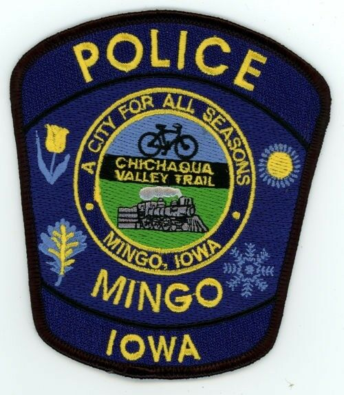 MINGO POLICE IOWA IA PATCH SHERIFF TRAIN