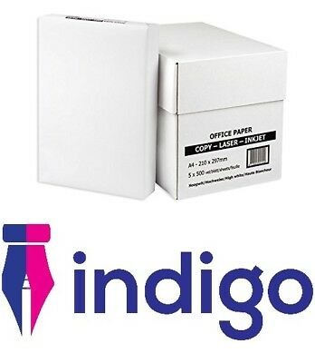 A4 White Printing Printer Paper 80gsm Copier Inkjet Laserjet 5 Reams Box (2500)