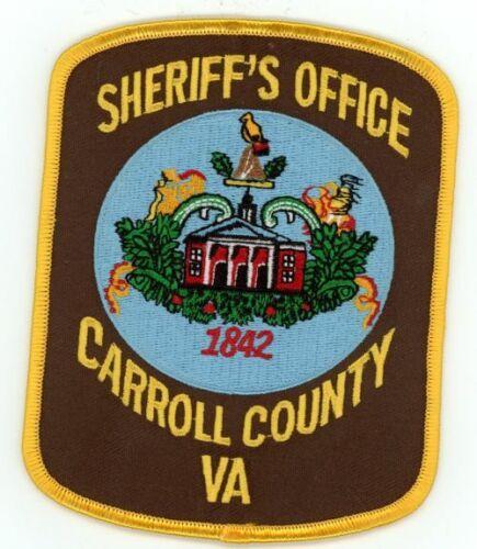 CARROLL COUNTY SHERIFF VIRGINIA VA NEW PATCH POLICE