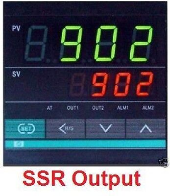 Dual Digital Pid Temperature Controller Kiln Furnace 110v Or 220vac Ssr Output